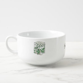 Personalized Queen Anne's Lace Monogram Soup Mug