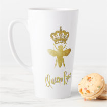 Personalized ★ QUEEN BEE ★ Gold Crown Latte Latte Mug