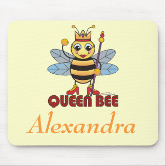 "Personalized ""Queen Bee"" Mouse Pad"