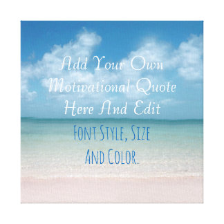 Personalized quotation canvas print