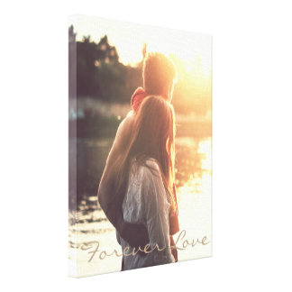 Personalized quote and photo canvas print