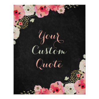 Personalized quote Custom quote print Chalkboard
