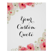 Personalized quote Custom quote print Floral