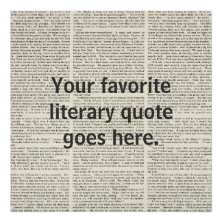 Personalized Quote literary Poster custom