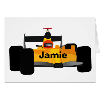 Personalized Race Car Birthday Party Gifts Card