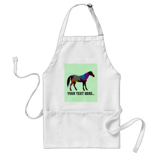 Personalized Race Horse Design On Mint Green Aprons