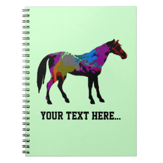 Personalized Race Horse Design On Mint Green Notebook