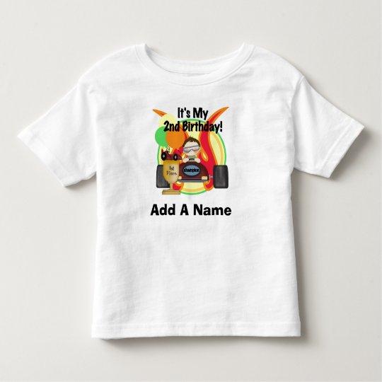 Personalized Racing 2nd Birthday Tshirt