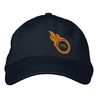Personalized Racing Flames Bullet Monogram Embroidered Baseball Cap