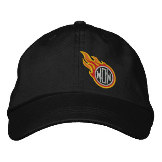 Personalized Racing Flames Bullet Monogram Embroidered Baseball Hat