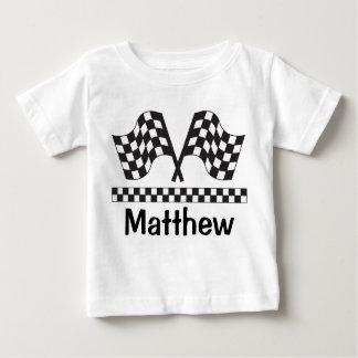 Personalized Racing Rally Flag Baby Tee Shirt Gift