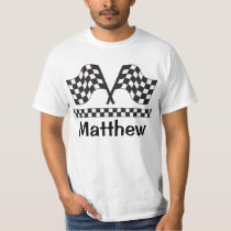Personalized Racing Rally Flag Tee Shirt Gift