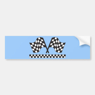 Personalized Racing Rally Flags Gift Bumper Sticker