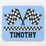 Personalized Racing Rally Flags Gift Mouse Pad