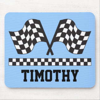 Personalized Racing Rally Flags Gift Mouse Pads