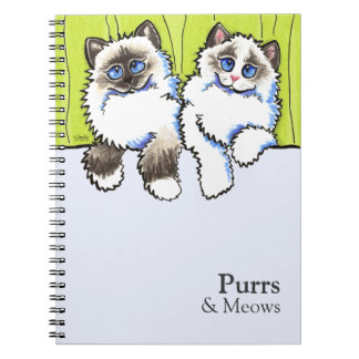 Personalized Ragdoll Cats Off-Leash Art™ Spiral Notebook
