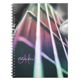 Personalized Rainbow Bass Guitar Music Notebook