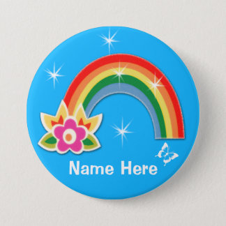 Personalized Rainbow Buttons Pins with Your Text