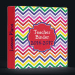 """Personalized Rainbow Chevron Teacher Binder<br><div class=""""desc"""">This personalized rainbow chevron binder features a chevron zigzag pattern background with a frame for your monogram initial and name. Easily customize and personalize this editable binder. Click on the &quot;Customize it!&quot; button to change the text size, text color, font style, add additional text and more! Please contact us if...</div>"""