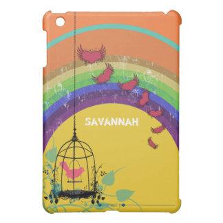 Personalized Rainbow Cute Birdcage iPad Mini iPad Mini Cases