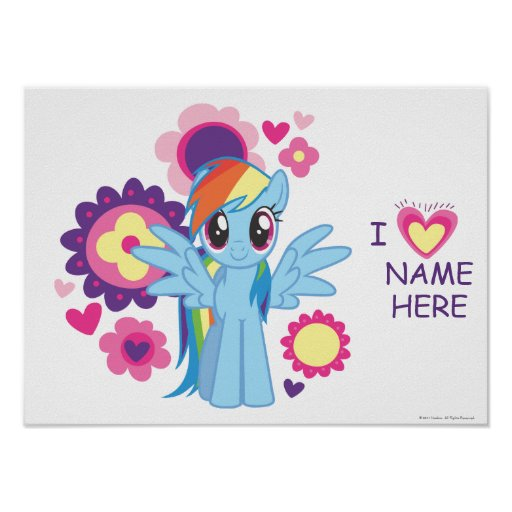 Personalized Rainbow Dash Poster