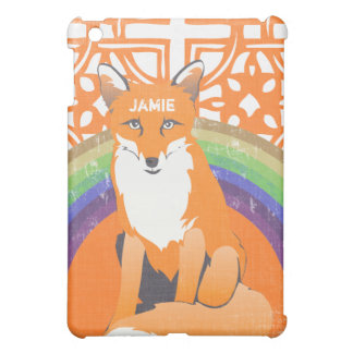 Personalized Rainbow Fox iPad Mini iPad Mini Covers
