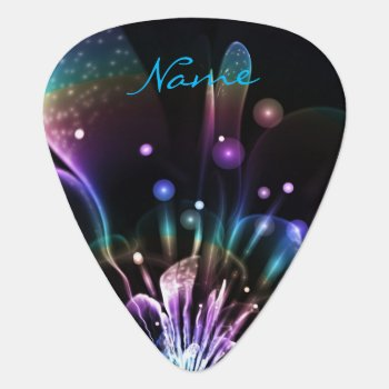 Personalized Rainbow Fractal Custom Guitar Pick by UROCKDezineZone at Zazzle