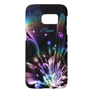 Personalized Rainbow Fractal Flower Galaxy S7 case