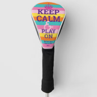 Personalized Rainbow KEEP CALM Wisdom Graphic Golf Head Cover