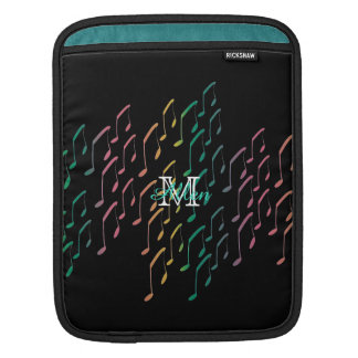 Personalized Rainbow Music Notes iPad Sleeve