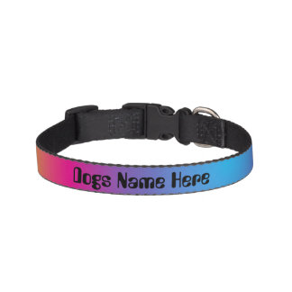 Personalized Rainbow Ombre Dog Collar