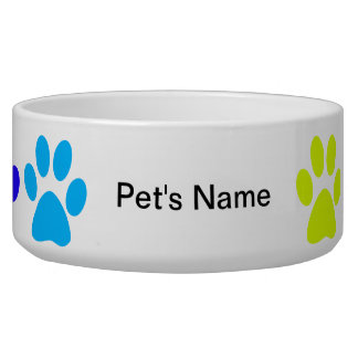 Personalized Rainbow Paws Bowl