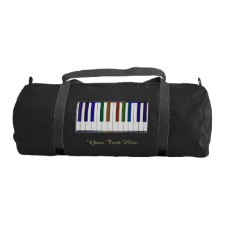 Personalized Rainbow Piano Keys Music Duffel Bag Gym Duffel Bag