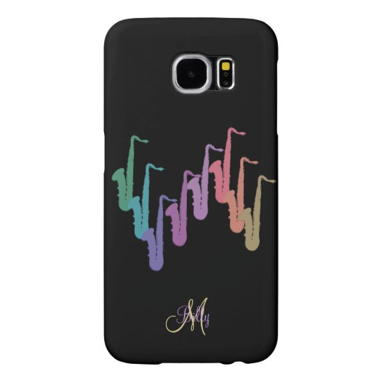 Personalized Rainbow Sax Music Samsung S6 Case