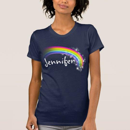 Personalized rainbow stars tee