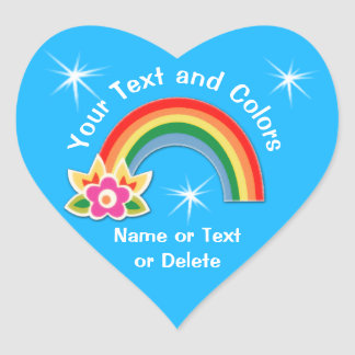 Personalized Rainbow Stickers Your TEXT, COLORS