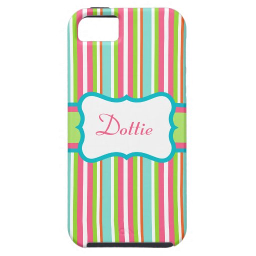Personalized Rainbow Stripe  iPhone 5 Case
