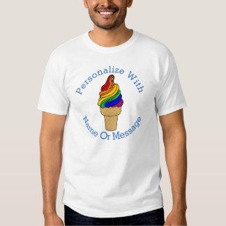 PERSONALIZED Rainbow Swirl Ice Cream T Shirt