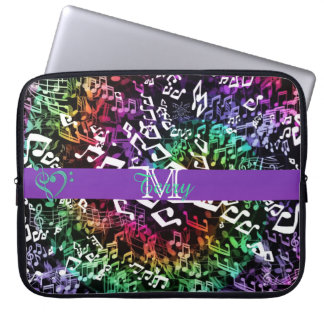 Personalized Rainbow Twisted Music Notes Sleeve