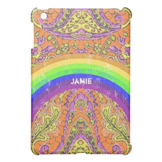 Personalized Rainbow Vintage Paisley iPad Mini Cover For The iPad Mini