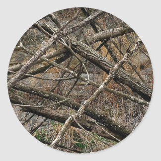 Personalized Real Camo / Camouflage (customizable) Classic Round Sticker