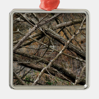 Personalized Real Camo / Camouflage (customizable) Square Metal Christmas Ornament