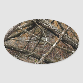 Personalized Real Camo / Camouflage (customizable) Oval Sticker