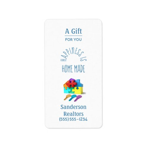 Personalized Realtor Hand Sanitizer House Label