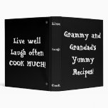 Personalized Recipe Binder add your names