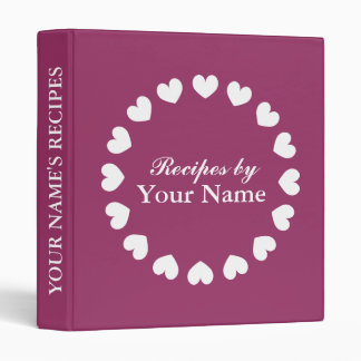 Personalized recipe binder | cook book with hearts