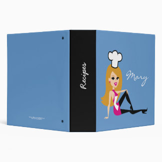 Personalized Recipe Binder for Girls