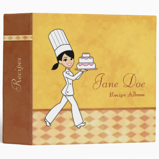 Personalized Recipe Binder with Illustration