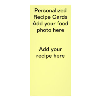 Personalized Recipe Cards Rack Card