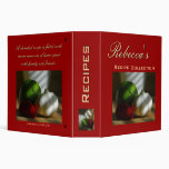 Personalized Recipe Collection Binder